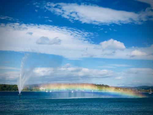 Rainbow on Lake Constnce